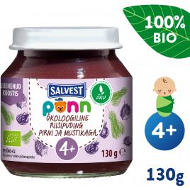 Salvest Põnn BIO Hruškovo-borůvkové pyré s jáhly (130 g)