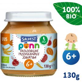 Salvest Põnn BIO Ovocné pyré s jogurtem  (130 g)