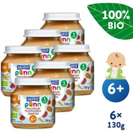 6x Salvest Põnn BIO Ovocné pyré s jogurtem  (130 g)