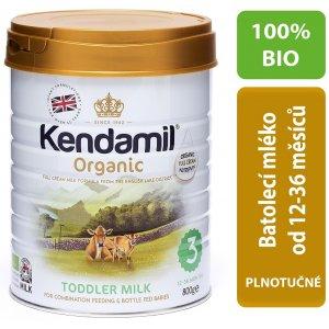 Kendamil BIO Organické batolecí mléko 3 800g Bílá