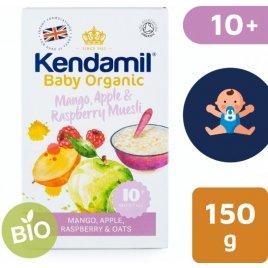 Kendamil BIO/Organická ovesná kaše s ovocem - mango, jablko, malina 150g