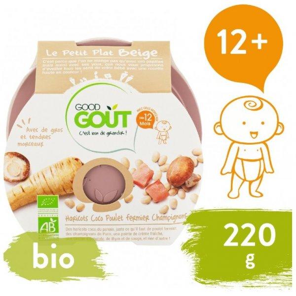 Good Gout BIO večeře - Bílé fazolky s kuřátkem a žampiony 220 g