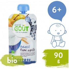 Good Gout BIO Hruškový jogurt s borůvkami 90 g