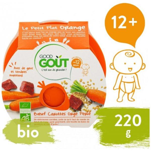 Good Gout BIO večeře – Hovězí s mrkví a ječnými kroupami 220 g