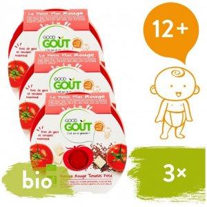 Good Gout 3x BIO večeře – Rajčátka a červená quinoa se sýrem Feta 220 g