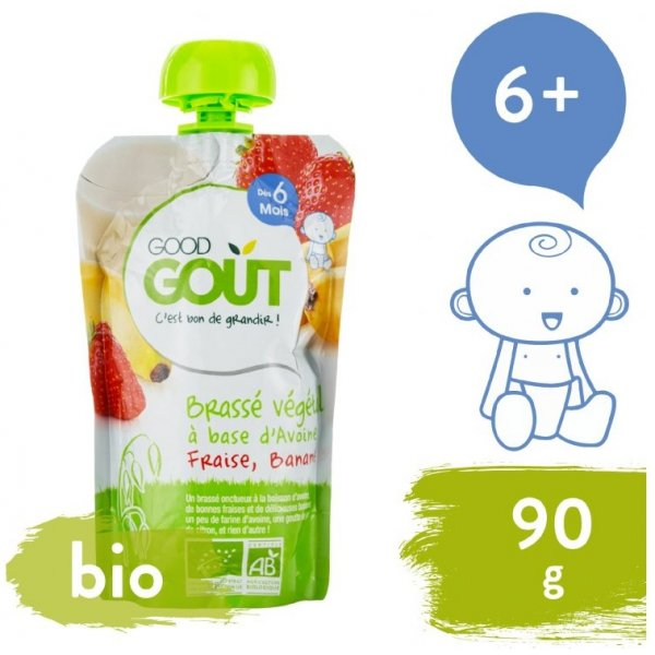 Good Gout AKCE BIO Ovesný dezert s jahodou a banánem 90 g