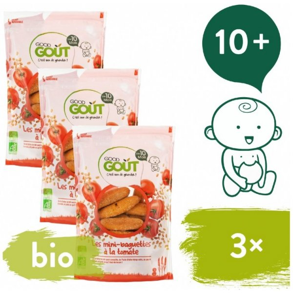 Good Gout 3x BIO Mini bagetky s rajčaty 70 g
