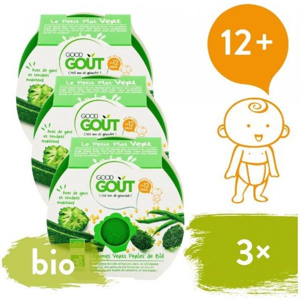 Good Gout 3x BIO večeře – Brokolice, Cuketa a zelené fazolky s tarhoňou 220 g