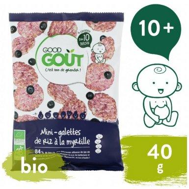 Good Gout BIO Mini rýžové koláčky s borůvkami 40 g