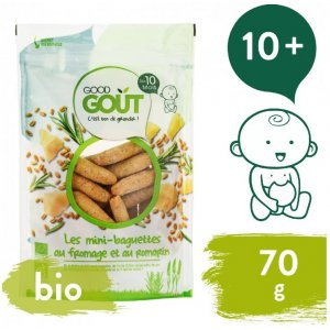 Good Gout BIO Mini bagetky s rozmarýnem a sýrem 70 g