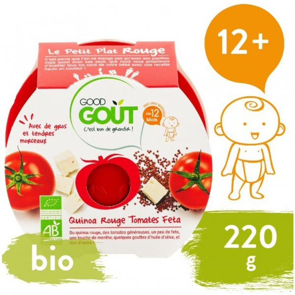 Good Gout BIO večeře – Rajčátka a červená quinoa se sýrem Feta 220 g