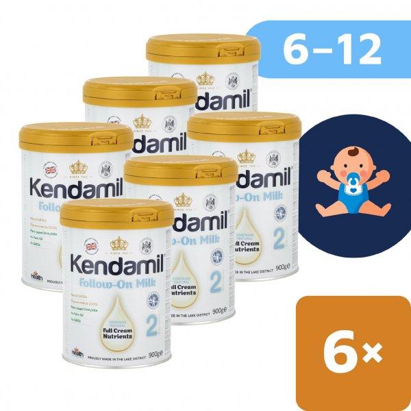 Kendamil 6x Pokračovací mléko 2 (900 g) DHA+
