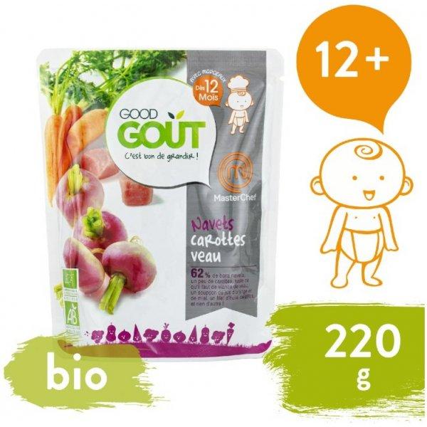 Good Gout BIO Vodnice, mrkev a telecí maso 220 g