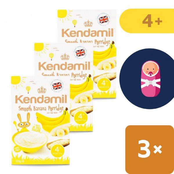 Kendamil 3x Jemná dětská banánová kaše (125 g)