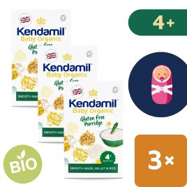 Kendamil 3x BIO/Organická dětská bezlepková kaše (150 g)