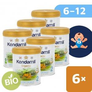Kendamil 6x BIO/organické plnotučné pokračovací mléko 2 (800g) DHA+