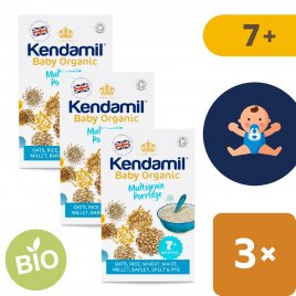 Kendamil 3x BIO/Organická dětská vícezrnná kaše (150 g)