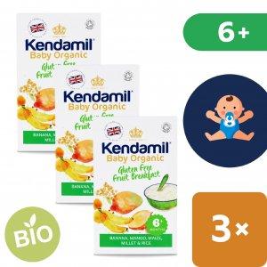 Kendamil 3x BIO/Organická dětská bezlepková ovocná kaše (150 g)