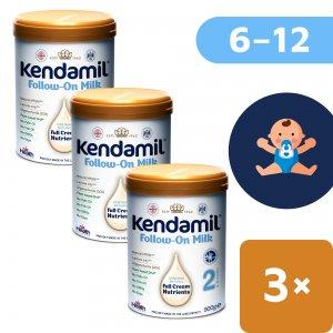 Kendamil 3x pokračovací mléko 2 (900 g) DHA+