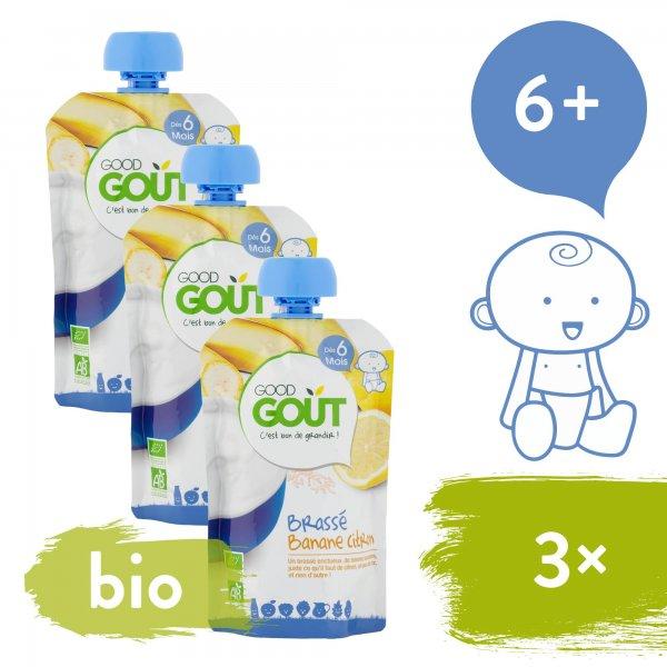 Good Gout 3x BIO Banánový jogurt s citrónem 90 g