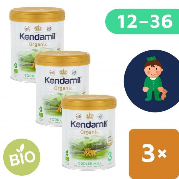 Kendamil 3x BIO/organické plnotučné batolecí mléko 3 (800 g) DHA+