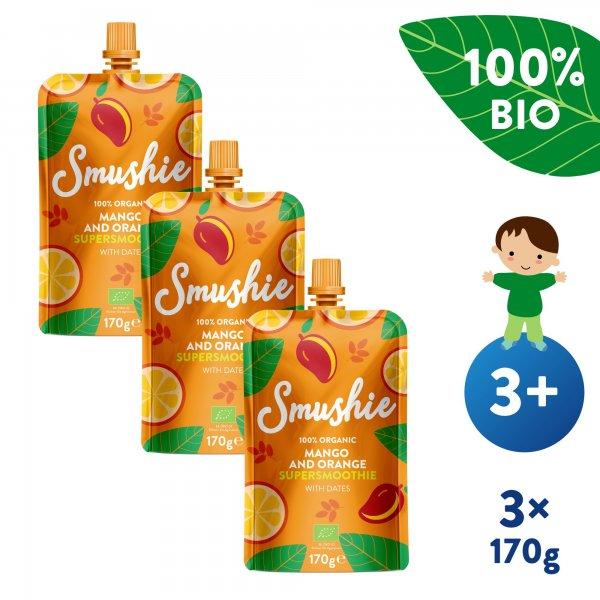 Salvest Smushie 3x BIO Ovocné smoothie s mangem, pomerančem a datlemi (170 g)