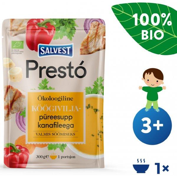 Salvest Prestó BIO Kuřecí prsíčka se zeleninovým pyré (300 g)