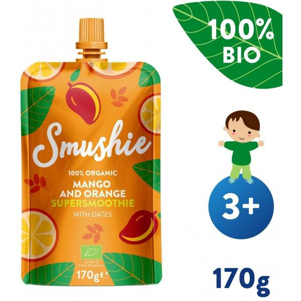 Salvest Smushie BIO Ovocné smoothie s mangem, pomerančem a datlemi (170 g)