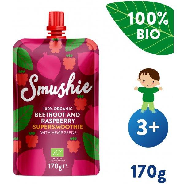 Salvest Smushie BIO Ovocné smoothie s červenou řepou, malinami a konopnými semínky (170 g)