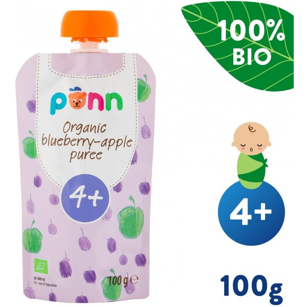Salvest Põnn BIO Jablko s borůvkami (100 g)