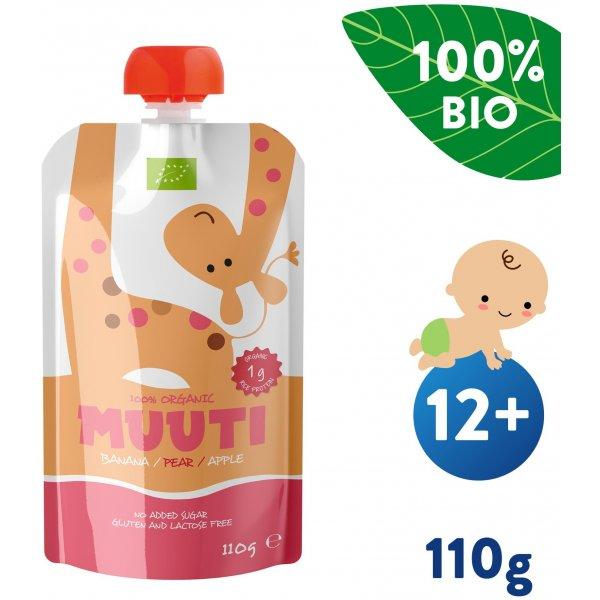 Salvest Muuti BIO Ovocné pyré s ananasovou šťávou a rýžovým proteinem (110 g)