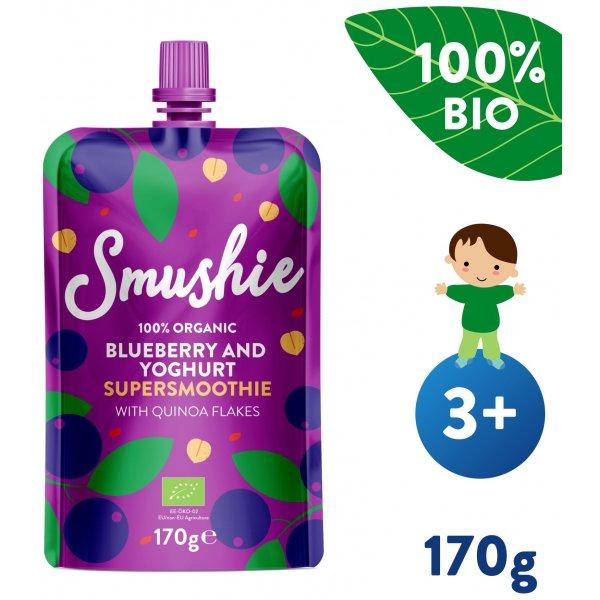 Salvest Smushie BIO Ovocné smoothie  s borůvkami, jogurtem a quinoou (170 g)