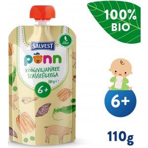 Salvest Põnn BIO Vepřová panenka se zeleninovým pyré (110 g)