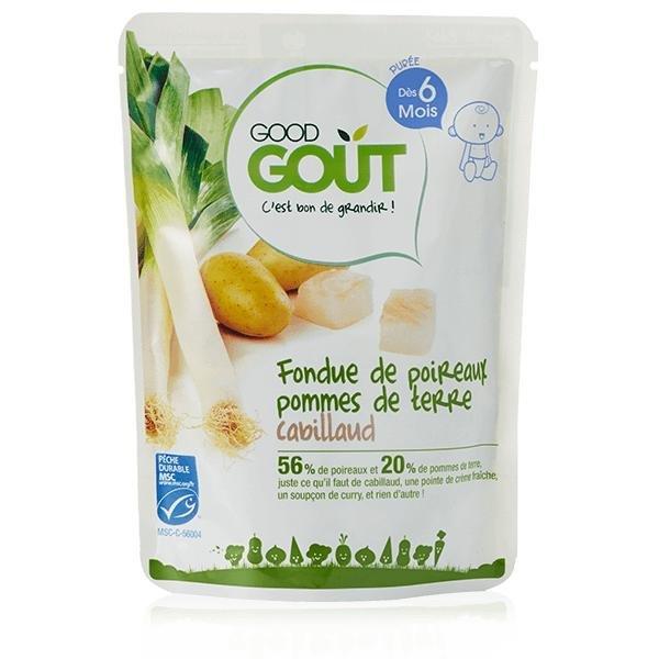 Good Gout BIO Pórek s brambůrkem a treskou (190 g)
