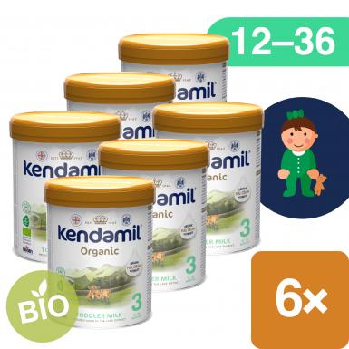 6x Kendamil BIO Nature batolecí mléko 3 (800 g) DHA+