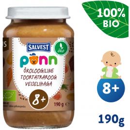 Salvest Põnn BIO Hovězí maso s pohankou a zeleninou (190 g)