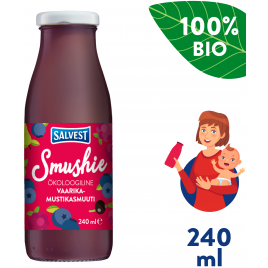 Salvest Smushie BIO Ovocné smoothie s borůvkami, malinami a černým rybízem (240 ml)