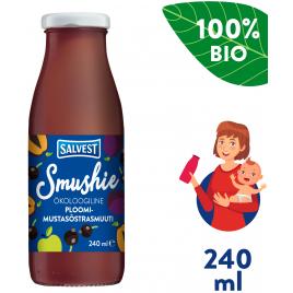 Salvest Smushie BIO Ovocné smoothie s černým rybízem a švestkami (240 ml)